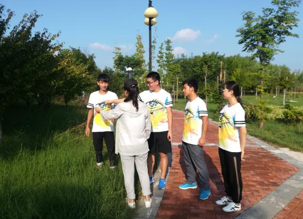 山东学子助力新旧动能转换:访金乡县万福湖湿地公园